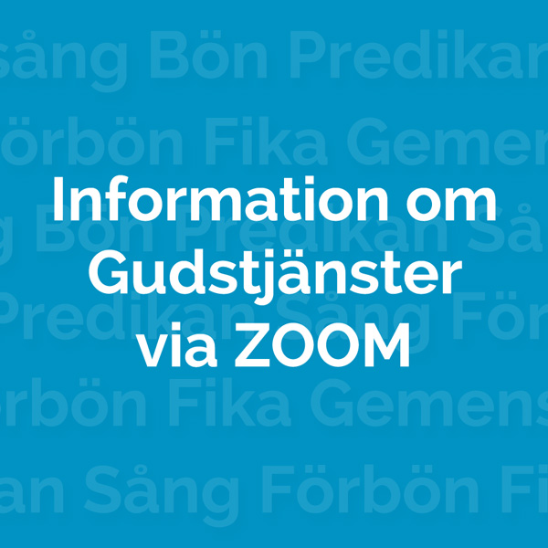 Gudtjänster via Zoom